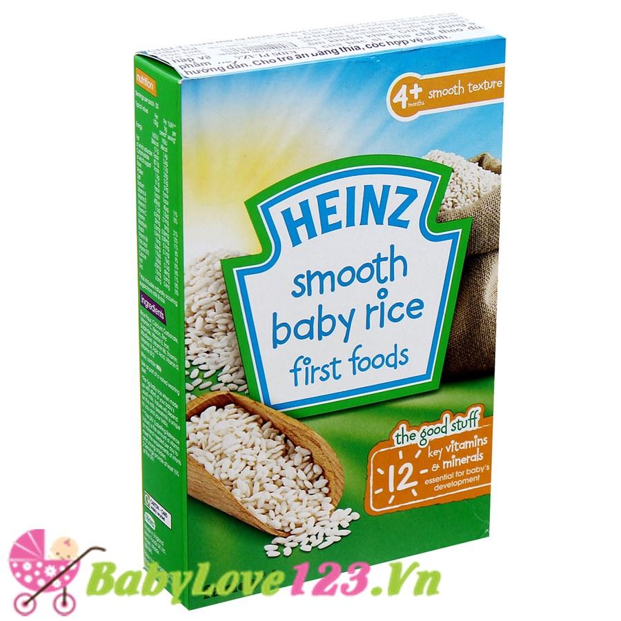 Bột ăn dặm Heinz vị gạo xay nhuyễn 4M+