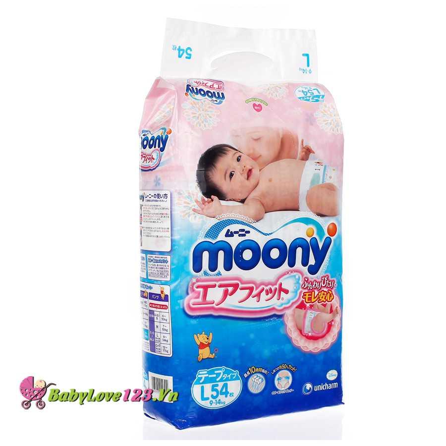Tã dán Moony L54 cho trẻ từ 9 - 15kg