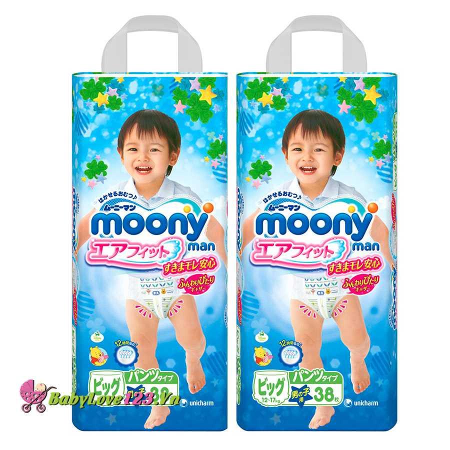 Tã quần Moony XL38 Trai
