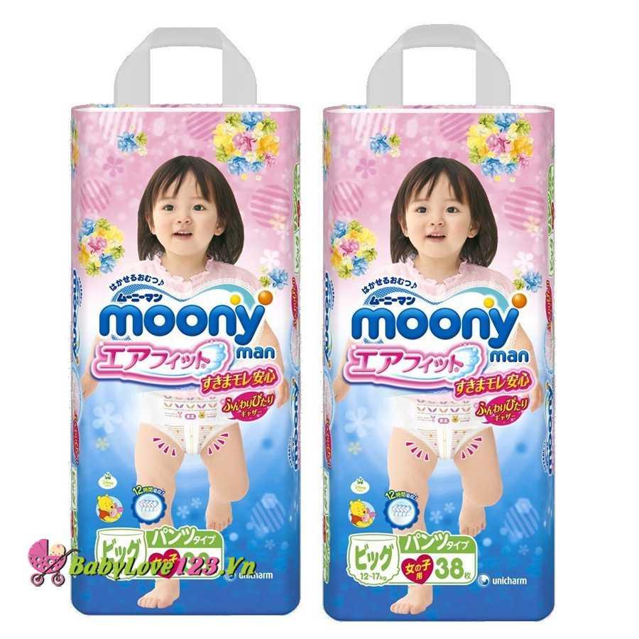 Tã quần Moony XL38-Gái