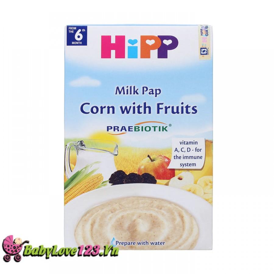 Bột ăn dặm HiPP vị hoa quả sữa bắp 2953
