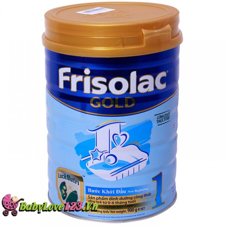 Sữa Frisolac Gold số 1 900g cho trẻ từ 0 - 6 tháng