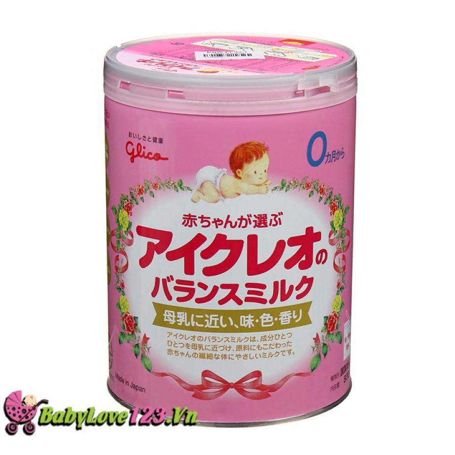 Sữa Glico số 0 lon 800g cho trẻ từ 0 - 9 tháng