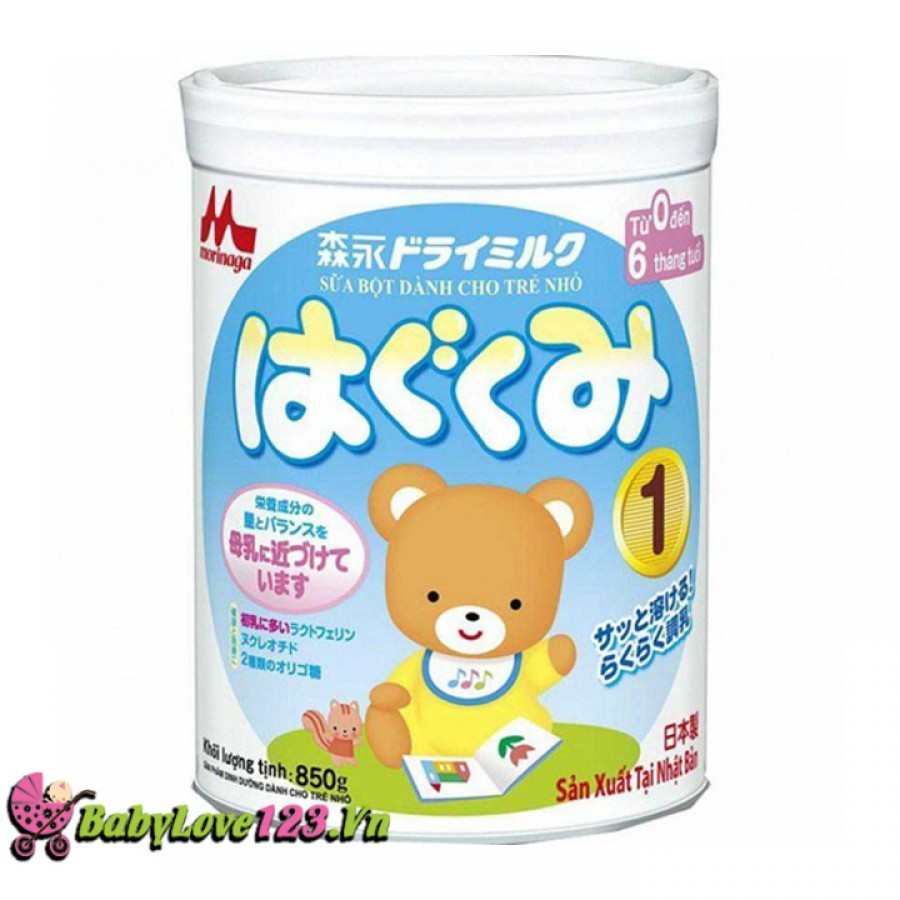 Sữa Morinaga số1 850g( 0-6 tháng)