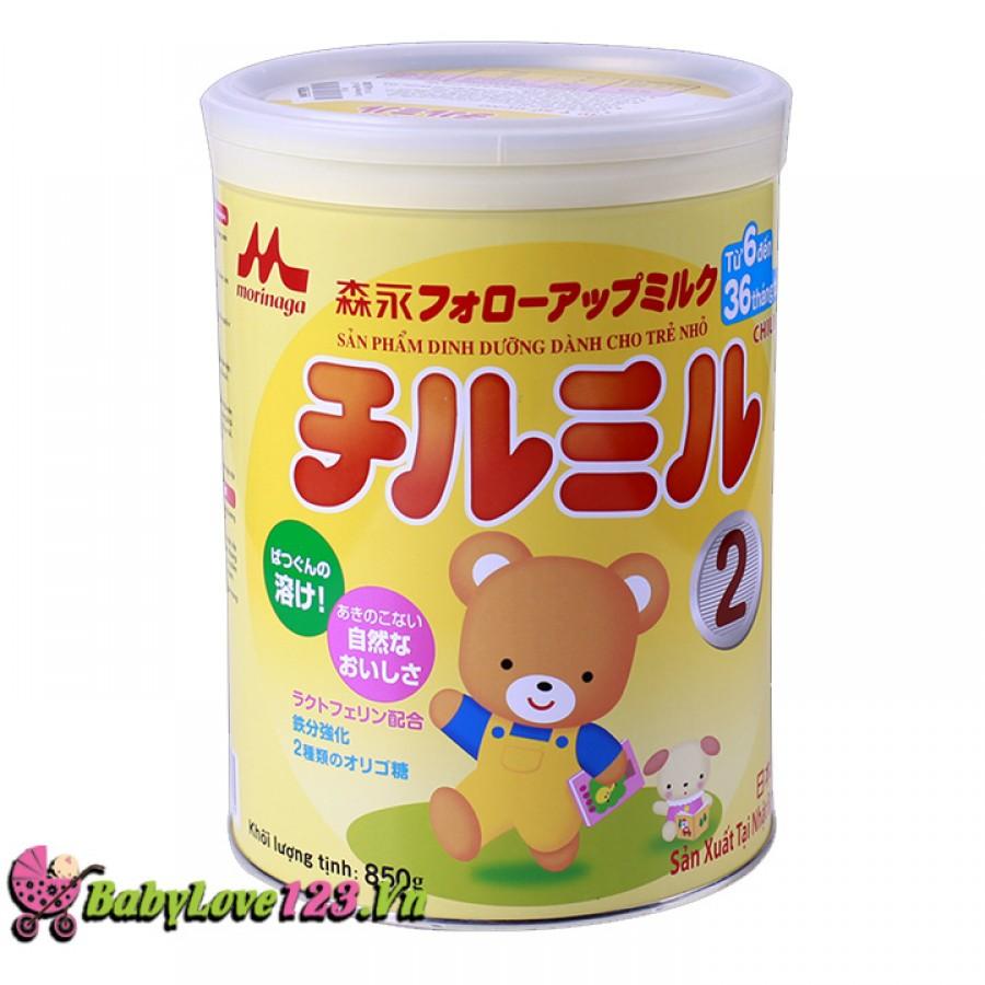 Sữa Morinaga số2 850g cho trẻ từ 6 - 36 tháng tuổi
