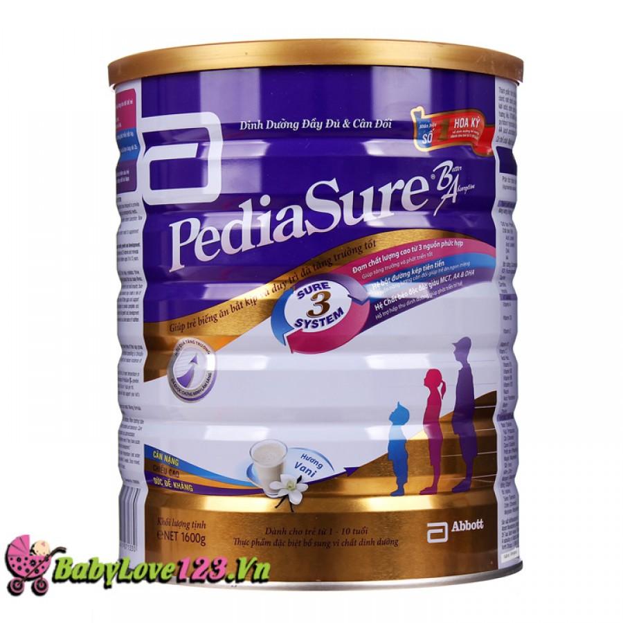 Sữa Pediasure 1,6kg cho trẻ từ 1 tuổi trở lên