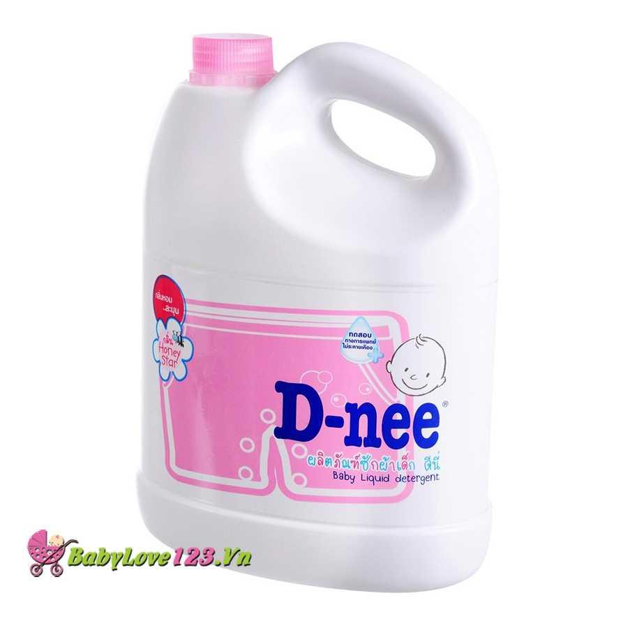 Nước giặt xả Dnee 3000ml màu hồng