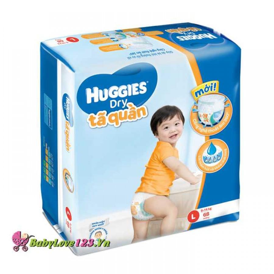 Tã quần HUGGIES L68 cho trẻ 8 - 13kg (Size L - 68 miếng)