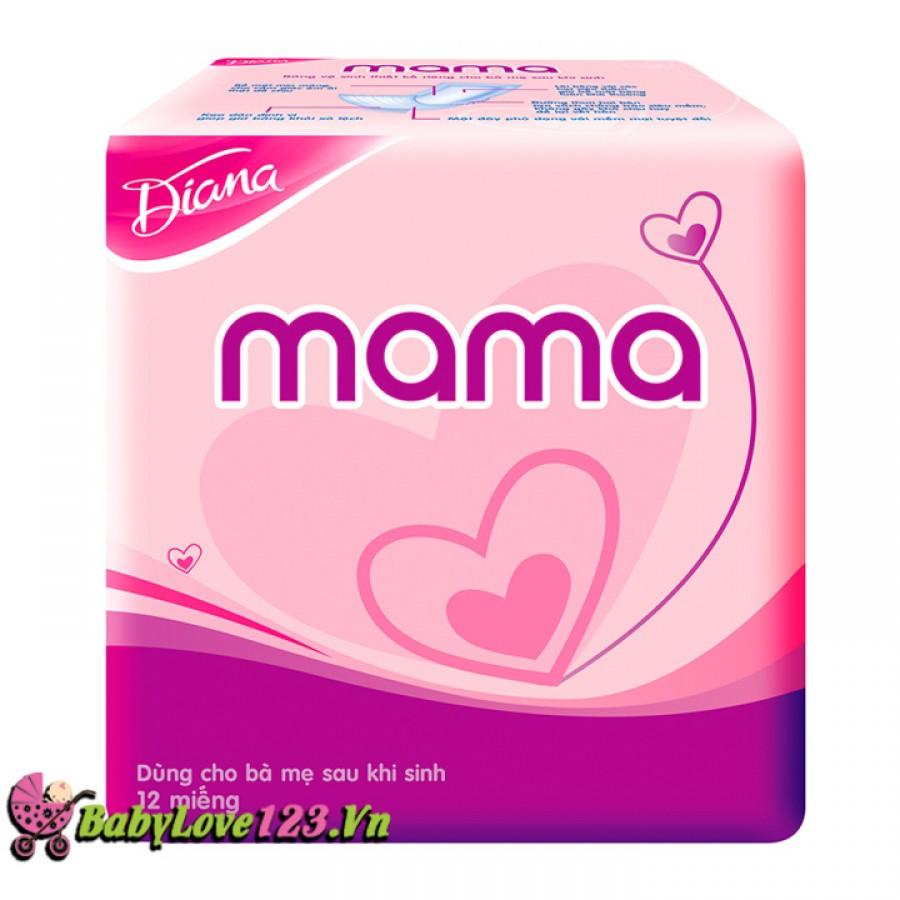 Băng vệ sinh cho mẹ Diana Mama 12 miếng