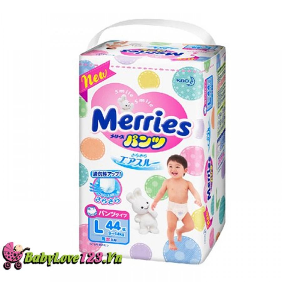 Tã quần Merries L44 cho bé từ 9 - 14kg