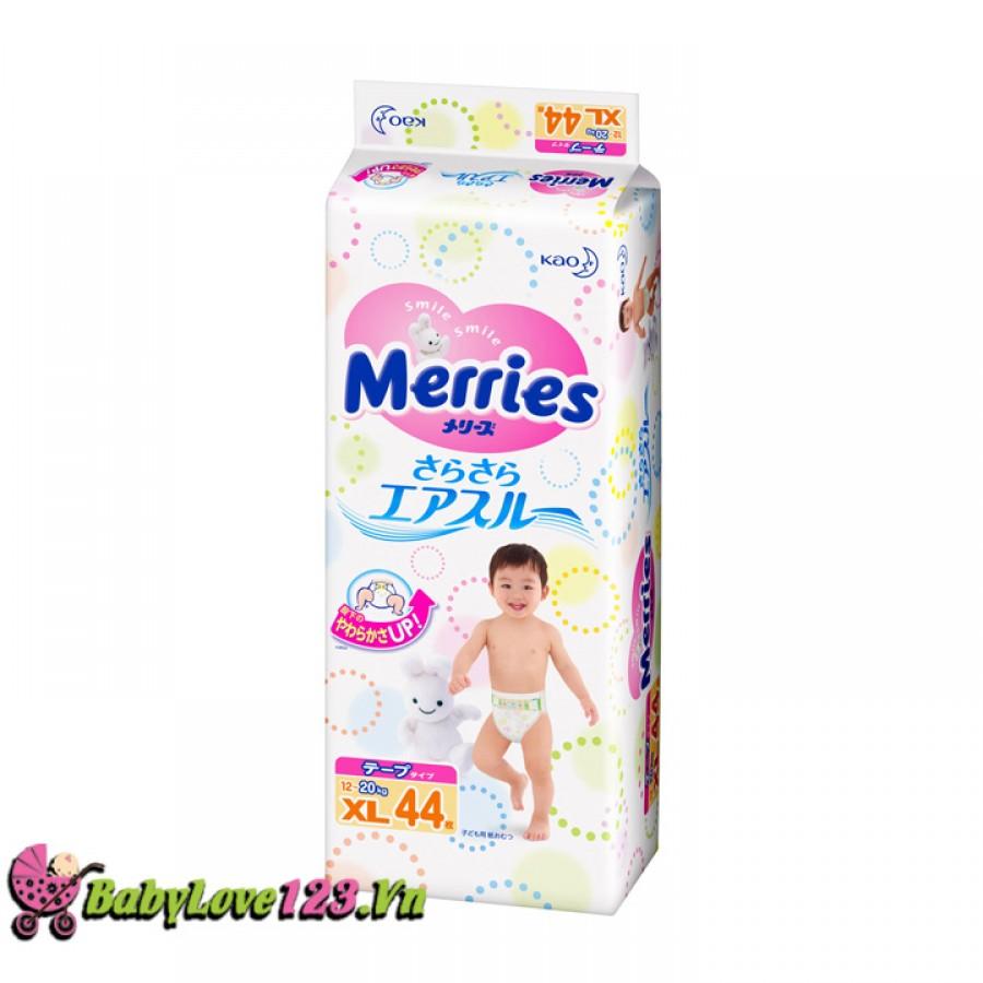 Tã dán Merries size XL 44 miếng cho bé từ 12 - 20 kg