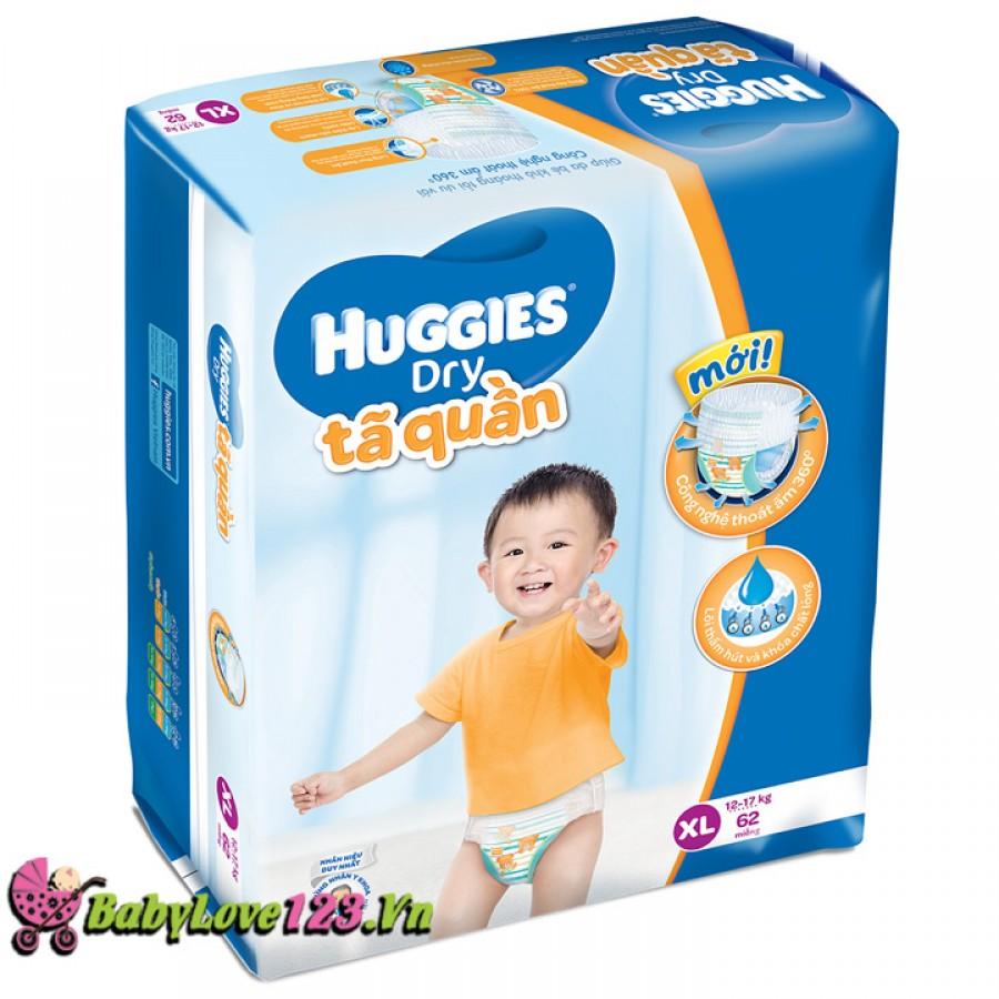 Tã quần Huggies Dry Super Jumbo XL62