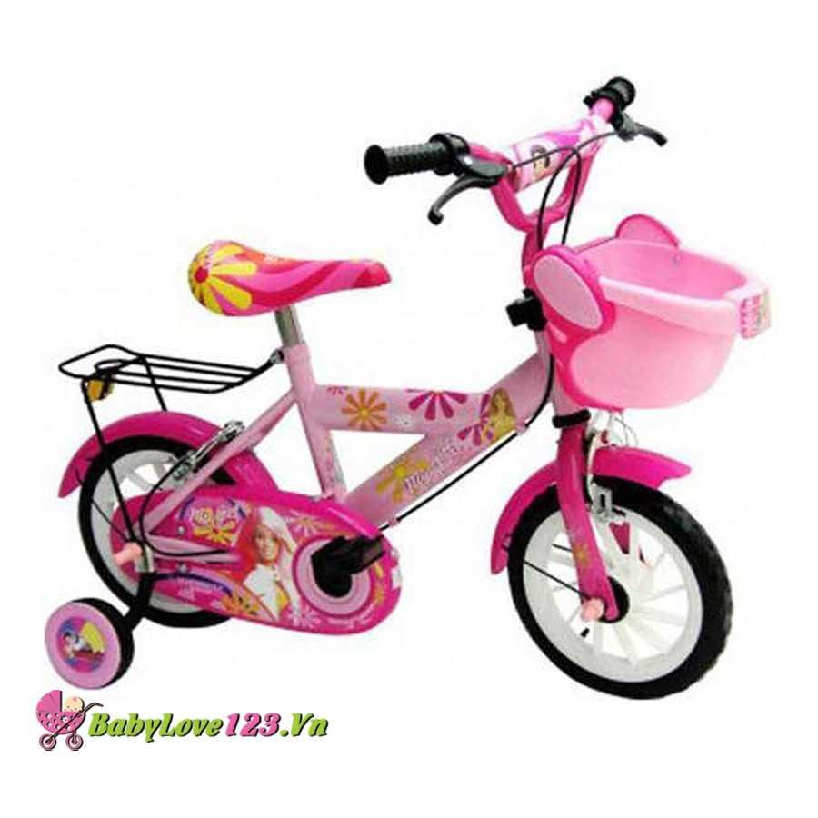 Xe đạp có 2 bánh phụ mygirl màu hồng cho bé gái 2-3 tuổi