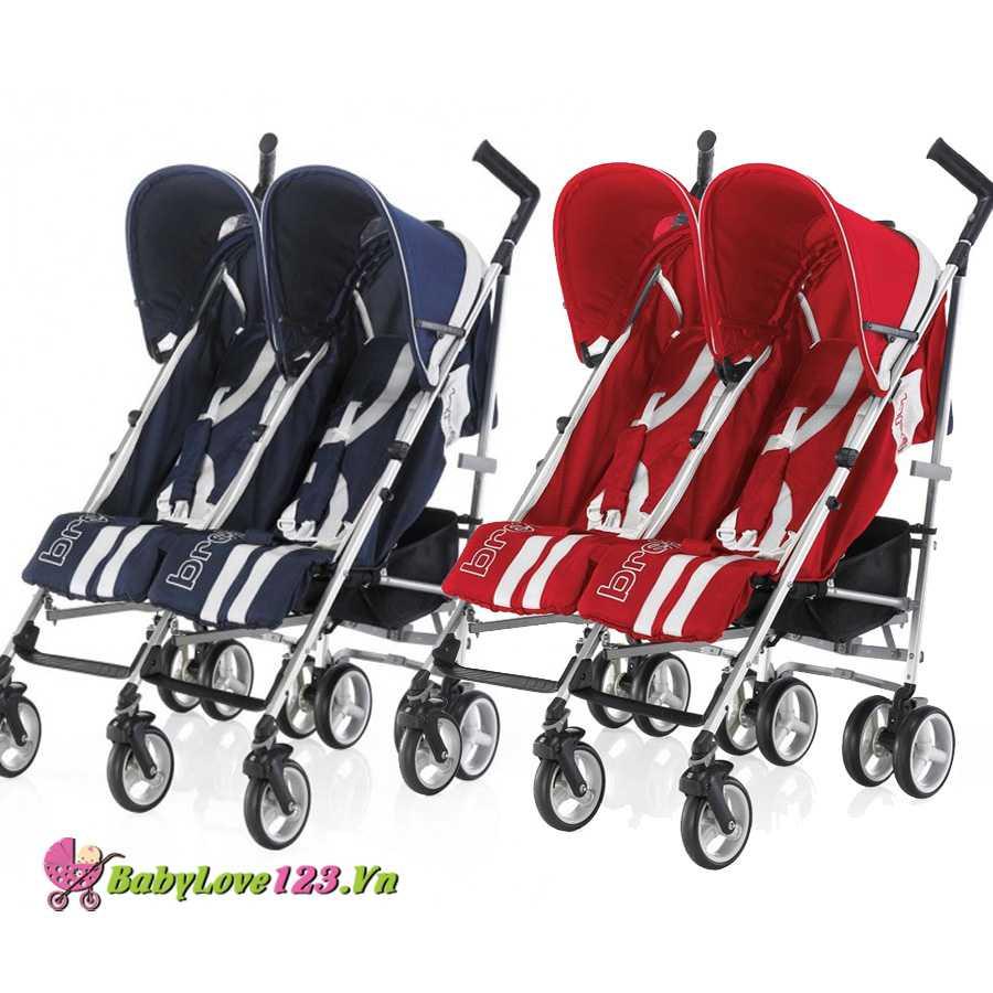Xe đẩy em bé đôi Brevi B.Flexy Twin